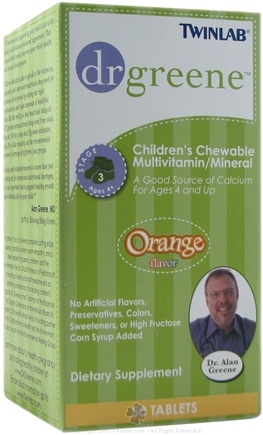 DROPPED: Dr. Greene - Childrens Chewable MultiVitamin/Mineral Orange Flavor - 50 Tablets