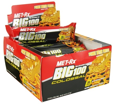 DROPPED: MET-Rx - Big 100 Colossal Meal Replacement Bar Peanut Butter Pretzel - 3.52 oz. CLEARANCED PRICED