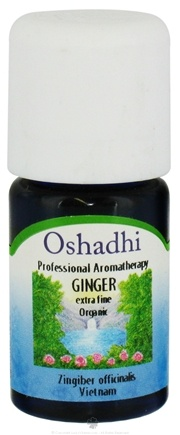 DROPPED: Oshadhi - Professional Aromatherapy Ginger Extra Fine Organic Essential Oil - 5 ml. CLEARANCE PRICED