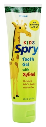 Xlear - Spry Kid's Tooth Gel with Xylitol Original - 2 oz. Formerly Spry Infant Tooth Gel