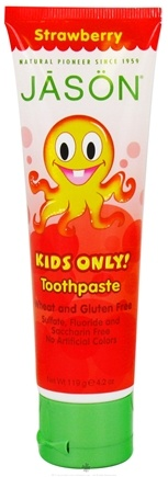 Jason Natural Products - Kids Only Toothpaste Strawberry - 4.2 oz.