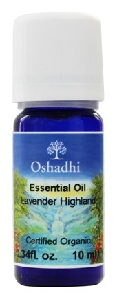 DROPPED: Oshadhi - Professional Aromatherapy Highland Lavender Certified Organic Essential Oil - 10 ml.