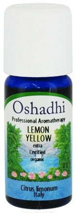 DROPPED: Oshadhi - Professional Aromatherapy Yellow Lemon Extra Certified Organic Essential Oil - 10 ml. CLEARANCE PRICED