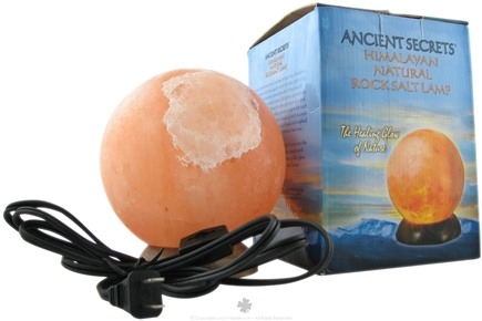 DROPPED: Ancient Secrets - Himalayan Natural Electric Rock Salt Lamp Sphere Large 6-8 lbs. - CLEARANCE PRICED