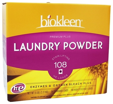 Biokleen - Premium Plus Laundry Powder Grapefruit Seed & Orange Peel Extract - 5 lbs.