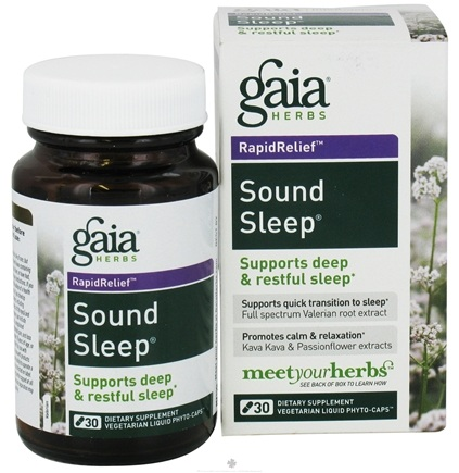 DROPPED: Gaia Herbs - Sound Sleep Liquid Phyto Caps - 30 Vegetarian Capsules CLEARANCE PRICED