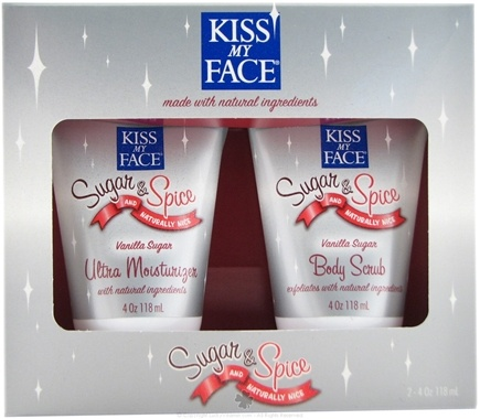 DROPPED: Kiss My Face - Sugar & Spice and Naturally Nice Body Scrub & Moisturizer Gift Set Vanilla Sugar