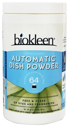 Biokleen - Automatic Dish Powder Free & Clear Unscented - 32 oz.