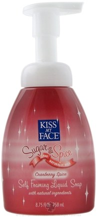 DROPPED: Kiss My Face - Liquid Soap Self Foaming Sugar & Spice And Naturally Nice Cranberry Spice - 8.75 oz. CLEARANCE PRICED
