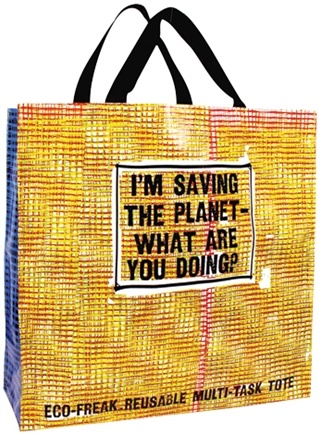 DROPPED: Blue Q - Saving the Planet Shopper Bag - CLEARANCE PRICED