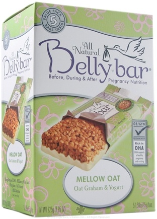 DROPPED: Belly Bar - All Natural Mellow Oat Snack Bar Oat Graham & Yogurt - 5 Bars