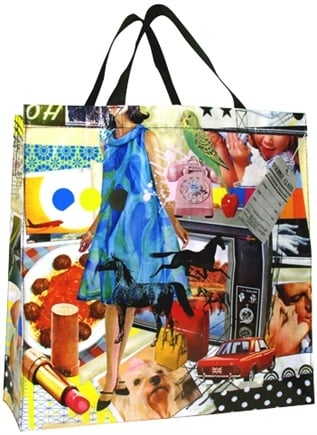 DROPPED: Blue Q - Crazy Collage Shopper Bag