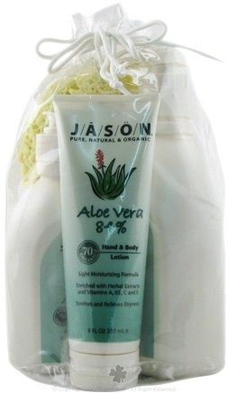 DROPPED: Jason Natural Products - Aloe Vera Hand and Body Lotion Wash Set - 1 Gift Set