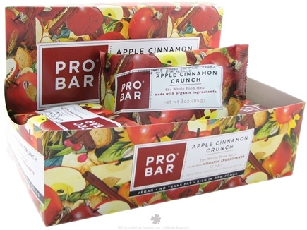 DROPPED: Pro Bar - Whole Food Meal Bar Original Collection Apple Cinnamon Crunch - 3 oz.