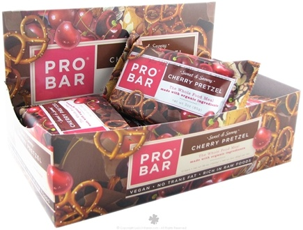 DROPPED: Pro Bar - Whole Food Meal Bar Sweet & Savory Cherry Pretzel - 3 oz.