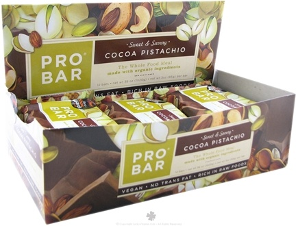 DROPPED: Pro Bar - Whole Food Meal Bar Sweet & Savory Cocoa Pistachio - 3 oz.