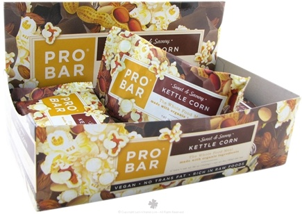 DROPPED: Pro Bar - Whole Food Meal Bar Sweet & Savory Kettle Corn - 3 oz.