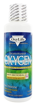 DROPPED: OxyLife Products - Oxygen with Colloidal Silver and Aloe Vera Orange Pineapple - 16 oz.