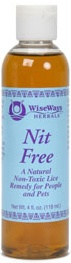 DROPPED: Wise Ways - Nit Free Natural Non-Toxic Lice Remedy for People and Pets - 4 oz. CLEARANCE PRICED