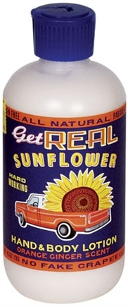Zoom View - Get Real Sunflower Hand and Body Lotion Orange Ginger Scent