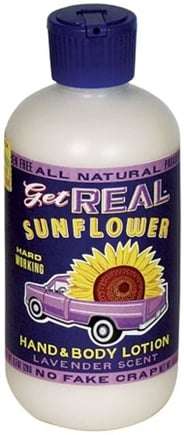 DROPPED: Blue Q - Get Real Sunflower Hand and Body Lotion Lavender Scent - 8 oz.