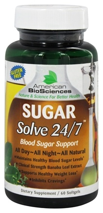 Zoom View - Sugar Solve 24 7 Banaba Leaf Extract