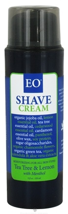 DROPPED: EO Products - Shave Cream Tea Tree and Lemon with Menthol - 5 oz.