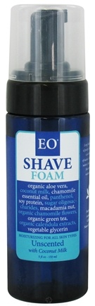 DROPPED: EO Products - Shave Foam Unscented with Coconut Milk - 5 oz. CLEARANCE PRICED