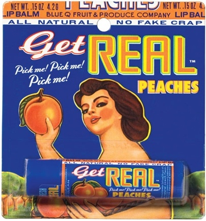 DROPPED: Blue Q - Get Real Lip Balm Peach Blister Pack - 1 Stick(s)