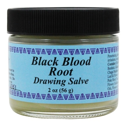 Zoom View - Black Blood Root Drawing Salve