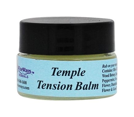 Wise Ways - Temple Tension Balm - 0.25 oz. Formerly Headache Balm