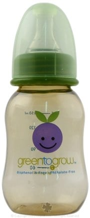 DROPPED: Green To Grow - Baby Bottle BPA Free Regular Neck - 1 Bottle(s) CLEARANCE PRICED
