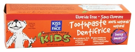Kiss My Face - Kids Toothpaste Fluoride-Free Berry Smart - 4 oz.
