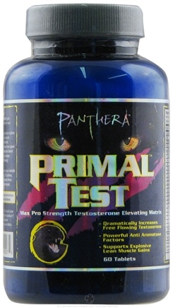 DROPPED: Panthera Labs - Primal Test Testosterone Elevating Matrix - 60 Tablets