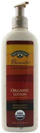 Zoom View - Rainwater Organics Lotion with Acai Oil Bergamot Patchouli