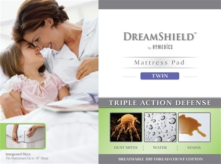 Zoom View - DreamShield Twin Size Mattress Pad DSH-PADT