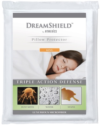 DROPPED: HoMedics - DreamShield King Size Pillow Protector DSH-PPK-6CTM - CLEARANCE PRICED