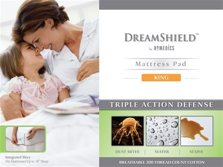 DROPPED: HoMedics - DreamShield King Size Mattress Pad DSH-PADK CLEARANCE PRICED