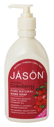 DROPPED: JASON Natural Products - Antioxidant Cranberry Satin Pure Natural Hand Soap - 16 oz.
