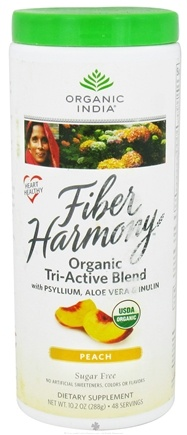 DROPPED: Organic India - Fiber Harmony Organic Tri-Active Blend Peach - 10.2 oz. CLEARANCE PRICED