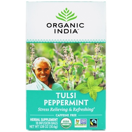 Organic India - Tulsi Tea Peppermint - 18 Tea Bags