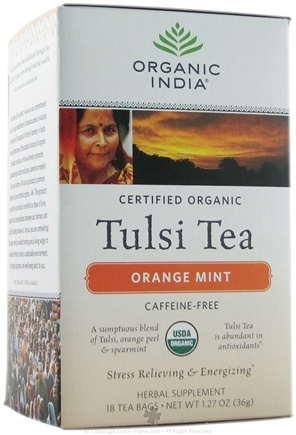 DROPPED: Organic India - Tulsi Tea Orange Mint CLEARANCE PRICED - 18 Tea Bags