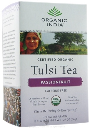 DROPPED: Organic India - Tulsi Tea Passionfruit - 18 Tea Bags