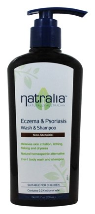 Natralia - Eczema and Psoriasis Wash Non Steroidal Natural Homeopathic Alternative - 7 oz.