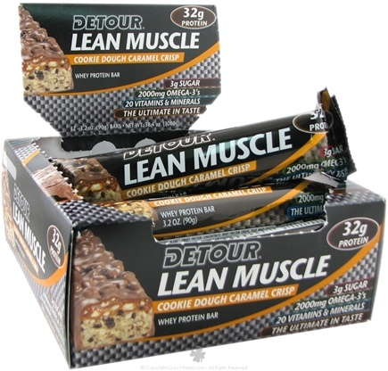 DROPPED: Forward Foods - Detour Lean Muscle Bar Cookie Dough Caramel Crisp - 3.2 oz.
