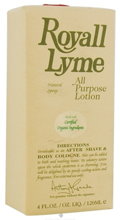DROPPED: Royall Lyme Bermuda - Royall Lyme All Purpose Lotion Natural Spray - 4 oz. CLEARANCE PRICED