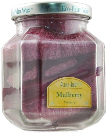 DROPPED: Aloha Bay - Deco Jar Candle Mulberry - 8.5 oz. CLEARANCE PRICED