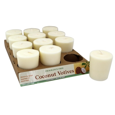 Aloha Bay - Votive Candle Unscented White - 2 oz.