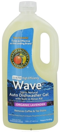 DROPPED: Earth Friendly - Wave Auto Dishwasher Gel 100% Natural 2X Ultra High Efficiency Organic Lavender - 40 oz. CLEARANCE PRICED