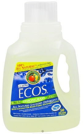 DROPPED: Earth Friendly - ECOS Ultra Laundry Detergent All Natural Lemongrass - 50 oz. CLEARANCE PRICED